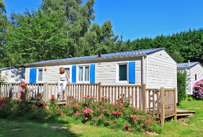 This mobile home with 2 bedrooms for disabled people is designed with convenience in mind