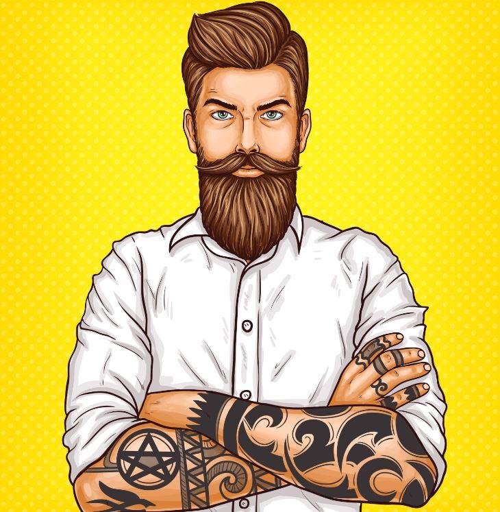 contour barbe
